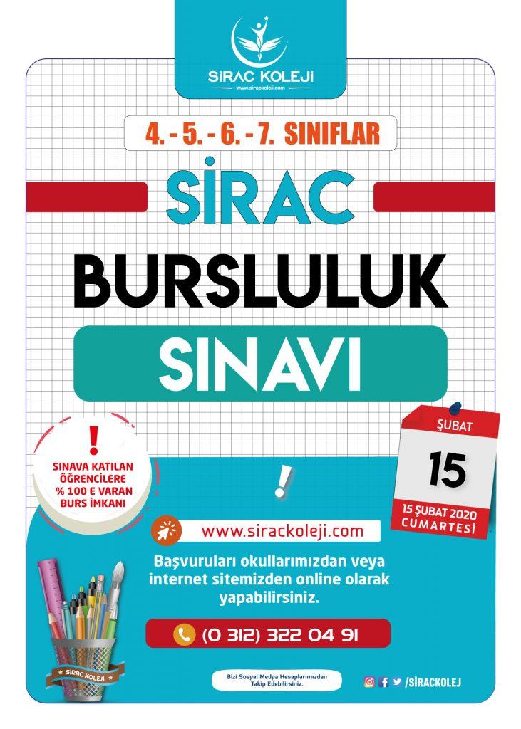 Sirac Koleji Bursluluk Sınavı Ankara