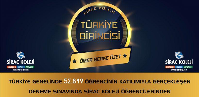 """Türkiye Birincimiz """"Ömer Berke ÖZET"""""""